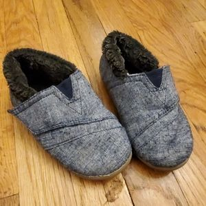 Toms House Slippers Navy Chambray